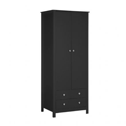 Florence 2 door 2 drawer Wardrobe in Black